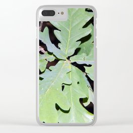 In the night forest, trees and stumps Clear iPhone Case