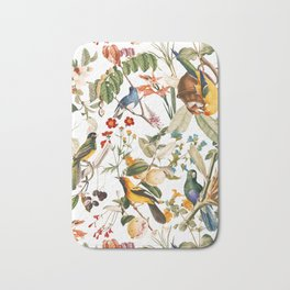 Floral and Birds XXXII Bath Mat