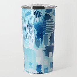 Study in blue, watercolor Travel Mug
