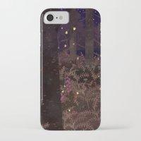 fireflies iPhone & iPod Cases featuring fireflies by Lara Paulussen