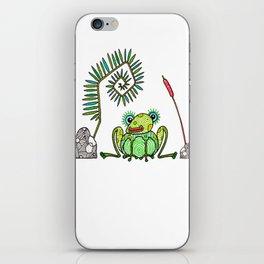 Frog, Fern, Bulrush and Rocks iPhone Skin