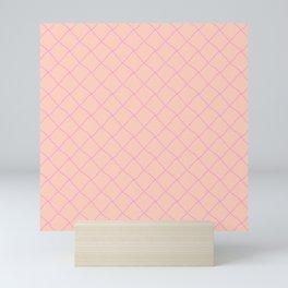 Grid lilla Mini Art Print
