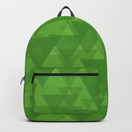 Gentle green triangles in intersection and overlay. Backpack