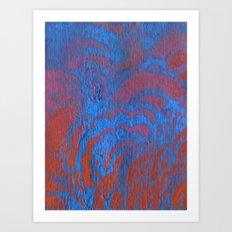 Drawing Meditation: Stencil 1 - Print 10 (blue) Art Print