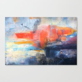 Abstract Red Blue Art  Canvas Print