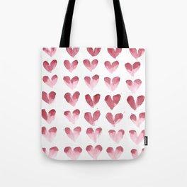 polka hearts Tote Bag