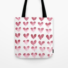 polka hearts Tote Bag