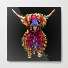HiGHLaND CoW PRiNT SCoTTiSH ' BuTCH ' BY SHiRLeY MacARTHuR Metal Print