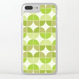 Mid Century Geometric 5 Clear iPhone Case
