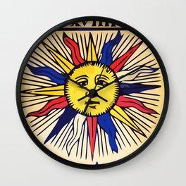 Le soleil Tarot card design Wall Clock