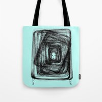 no face Tote Bags featuring Face by KRNago
