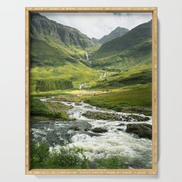 Scottish Highlands Mountain River Serving Tray