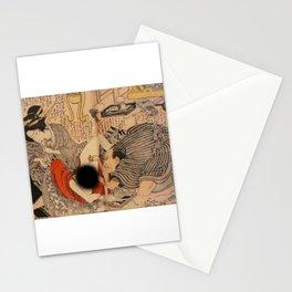Ahegao Hentai Geisha Girl Ukiyoe Stationery Cards