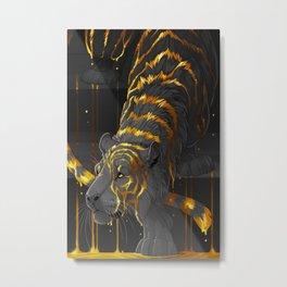 molten tiger Metal Print
