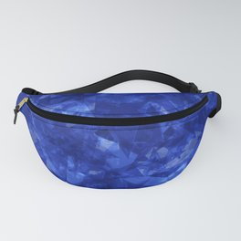 Dark pastel variegated blue stars in the projection. Fanny Pack