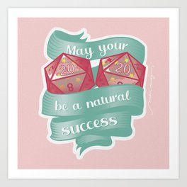 May your 2020 be a natural success Art Print