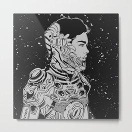 Space Nouveau Metal Print