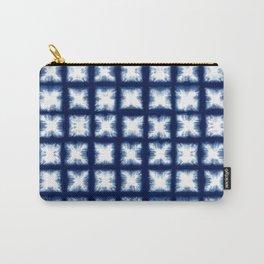 Indigo Shibori Granny Squares Carry-All Pouch