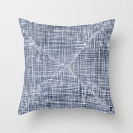 Ink Weaves: Sapphire Throw Pillow