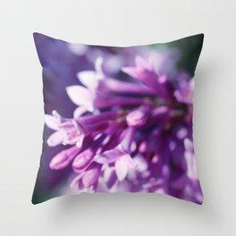 Lilacs close up Throw Pillow