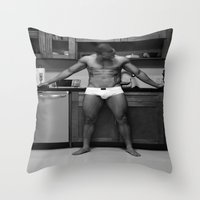 chef Throw Pillows featuring Hot Chef by SalAnthony