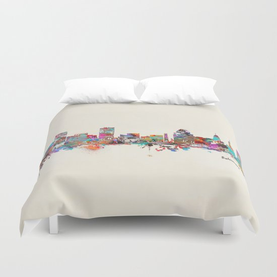 Baltimore Maryland skyline Duvet Cover