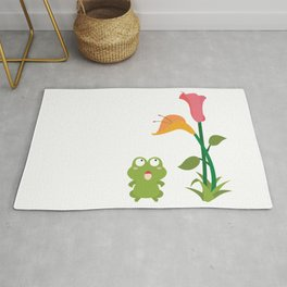 What does the frog see Rug