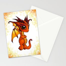 Baby Orange Dragon Stationery Cards