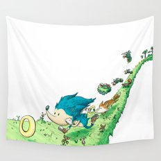Starring Sonic and Miles 'Tails' Prower (Alt.) Wall Tapestry