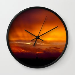 Holy Sunset Wall Clock