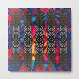 298 multicolored with black gray brown Metal Print