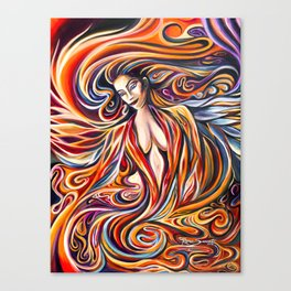 Phoenix Goddess Rising Canvas Print
