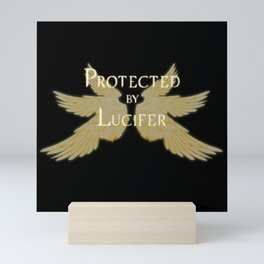 Protected by Lucifer Light Mini Art Print