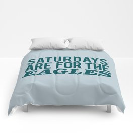 Saturdays are for the Eagles Comforters