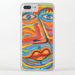 Retrato Seria pasión Clear iPhone Case