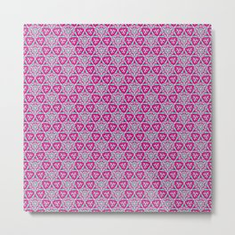 Bubble Gum Pink and Turquoise Cowgirl Arrowhead Paper Airplane Southwestern Design Pattern Metal Print