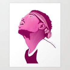 Chance The Rapper; Pink Art Print