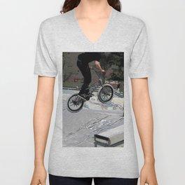 """Getting Air"" - BMX Rider Unisex V-Neck"