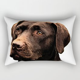 Chocolate Lab bywhacky Rectangular Pillow