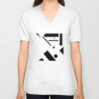broadway V-neck T-shirts featuring 7av. Broadway by Michal Gorelick