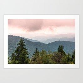 Great Smoky Mountain National Park Sunset Layers III - Nature Photography Art Print