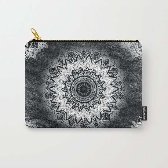 MONOCHROME BOHOCHIC MANDALA Carry-All Pouch