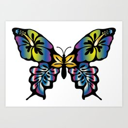 Colorful Abstract Butterfly Art Print