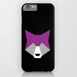 Graysexual pride wolf iPhone Case