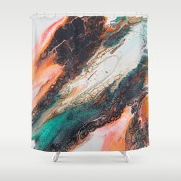 time travel acrylic pour Shower Curtain