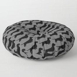 Wirehaired Dachshund Silhouette | Wiener Dog | Teckel Floor Pillow