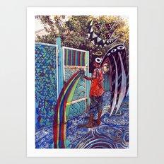 Psychoactive Bear 4 Art Print
