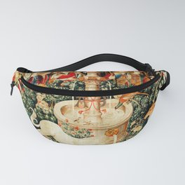 Hunt Of The Unicorn Medieval Tapestry Fanny Pack