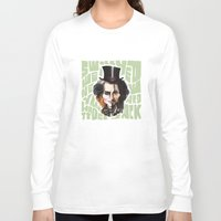johnny depp Long Sleeve T-shirts featuring Johnny Depp by Owen Ballesteros