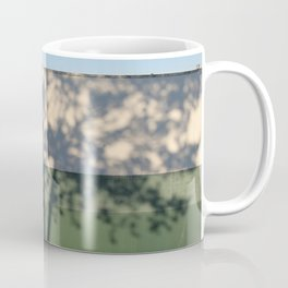 Shadow Tree on an industrial building Coffee Mug